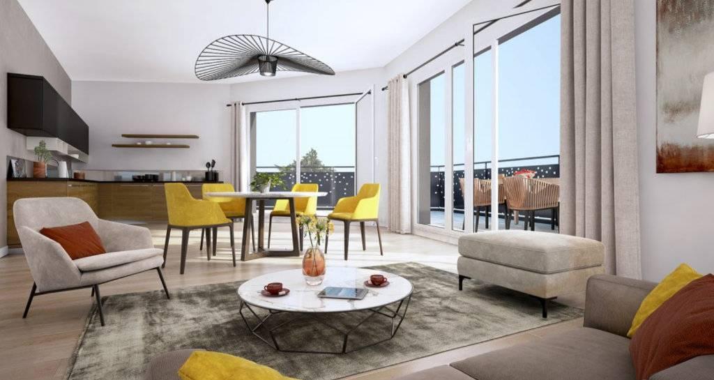 Appartement 3 pièces - 64 m2 - RDC avec terrasse 53 m2