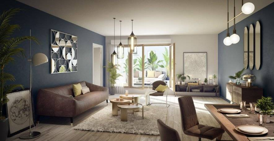 Appartement 2 pièces - 41 m2 - 1er étage avec balcon
