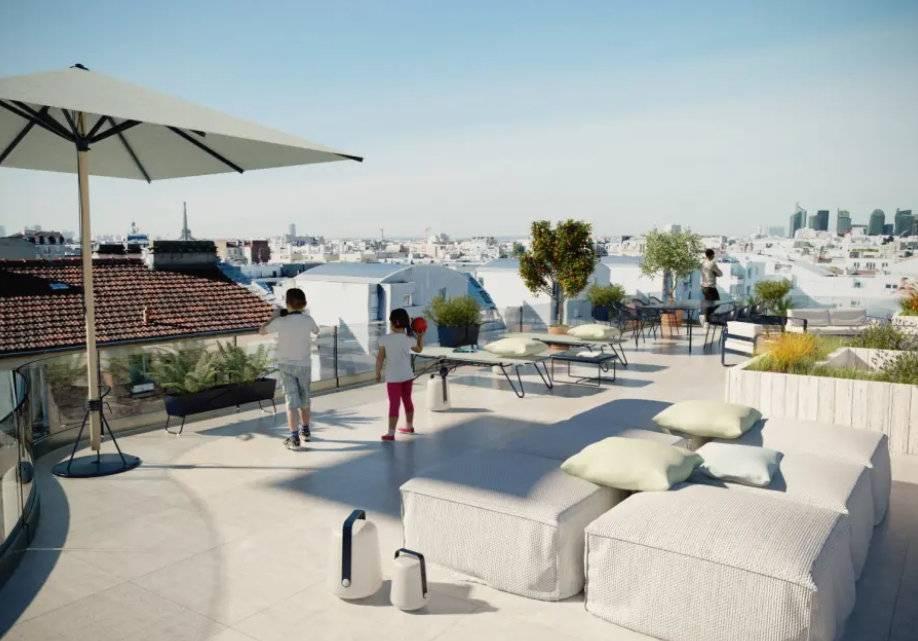 Appartement 4 pièces - 102 m2 - 6e étage avec terrasse de 55 m2 et 2 places de parking
