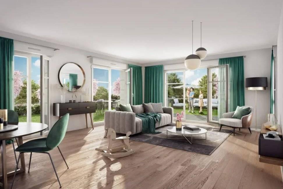 Appartement 4 pièces - 83 m2 - RDJ avec terrasse 9 m2 et jardin + haies 265 m2