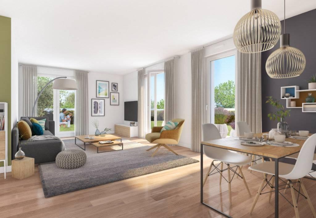 Appartement 3 pièces - 59 m2 - 2e étage avec balcon et 2 loggias