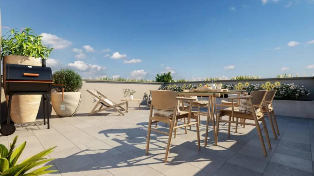 Appartement 2 pièces - 46 m2 - 1er étage avec balcon et jardinière