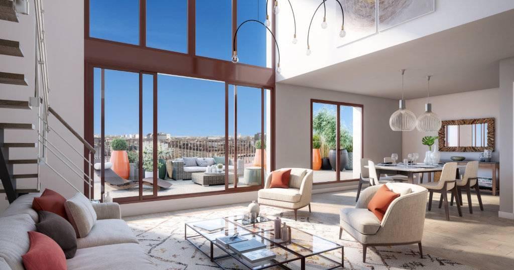 Appartement 3 pièces - 80 m2 - 6e étage avec loggia 14 m2