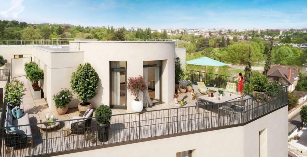 Appartement 5 pièces - 100 m2 - Dernier étage avec terrasse 91 m2