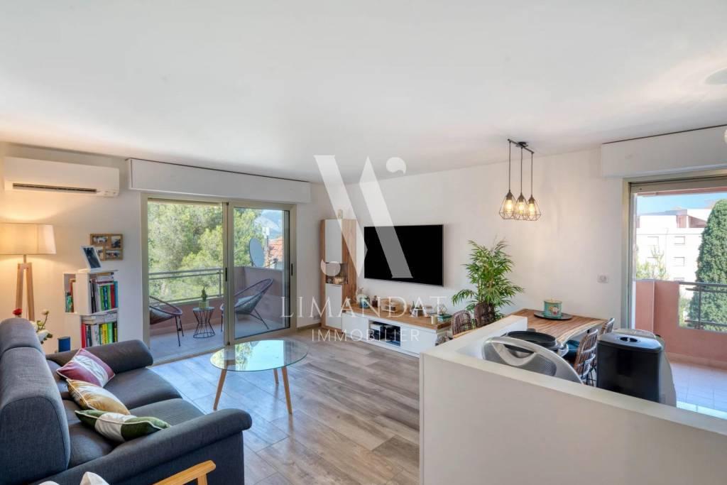 Roquebrune Cap Martin - 3 rooms 54 m2 terraces 19 m2 garage cellar