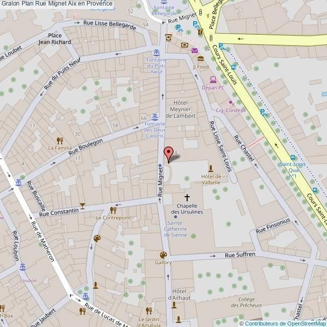 Informations Rue Mignet Aix en Provence