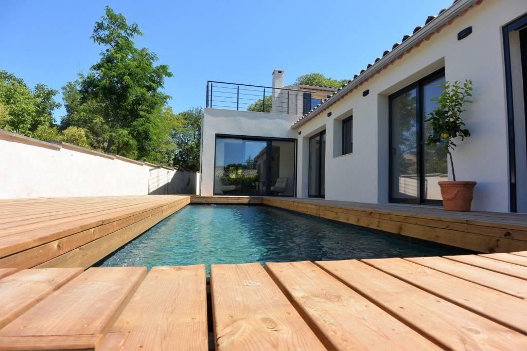 maison de ville avec piscine au calme absolu secteur TORSE / BIBEMUS