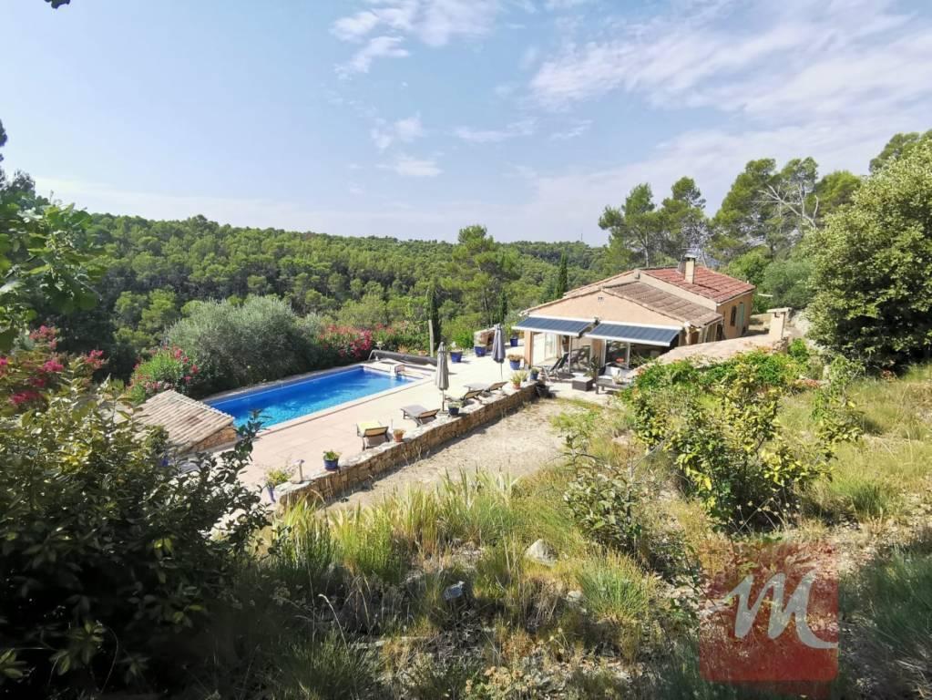 2 maisons, belle piscine, jolie vue à Entrecasteaux.