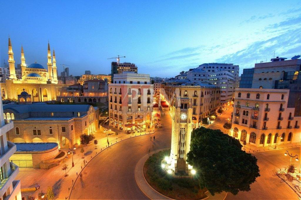 architecture beirut classical crowds destination downtown east lebanon middle night nighttime people scene season summer summertime tourist travel urban vacation attraction buildings capital center ce