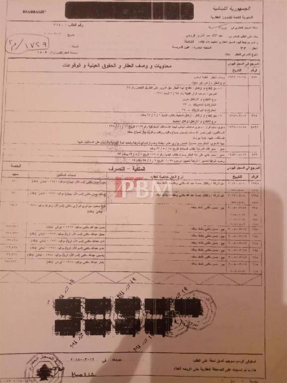 Sale Plot of land Beirut Ain el Mraysseh