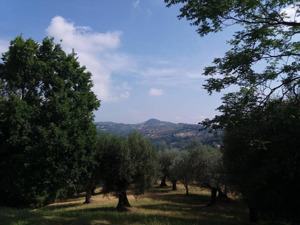 Porta Sant'Angelo, affacciato sulle verdi colline umbre