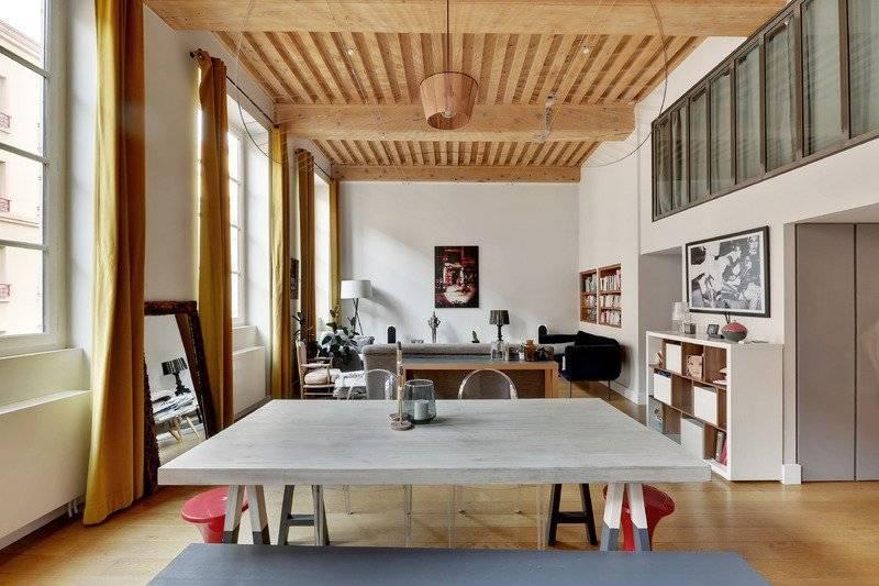 Lyon Croix Rousse, magnifique appartement 125m2 duplex T4 canut