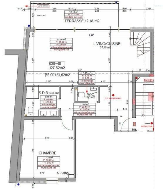 Superbe duplex 3 chambres