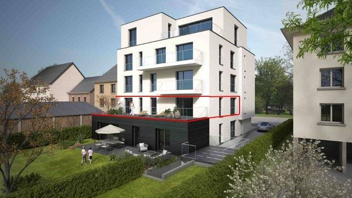 Two bedroom apartment with a large terrace