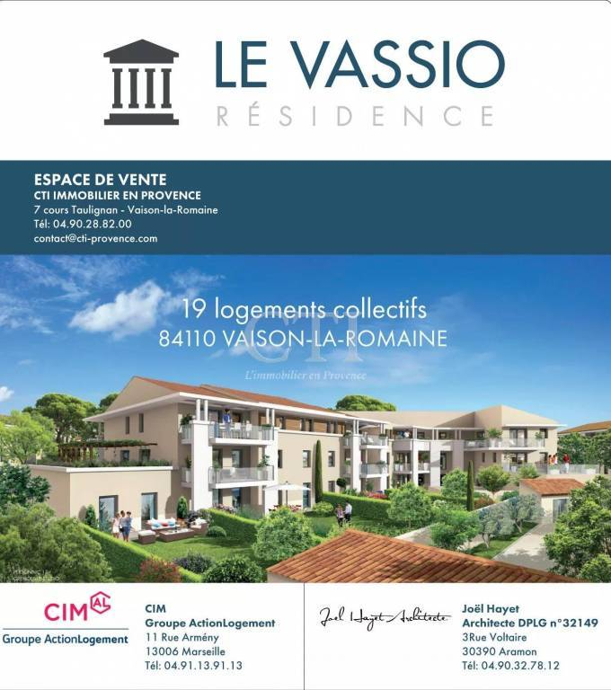 RESIDENCE THE VASSIO 19 APARTMENTS T2-T3-T4 WITH TERRACE AND / OR PRIVATE GARDEN