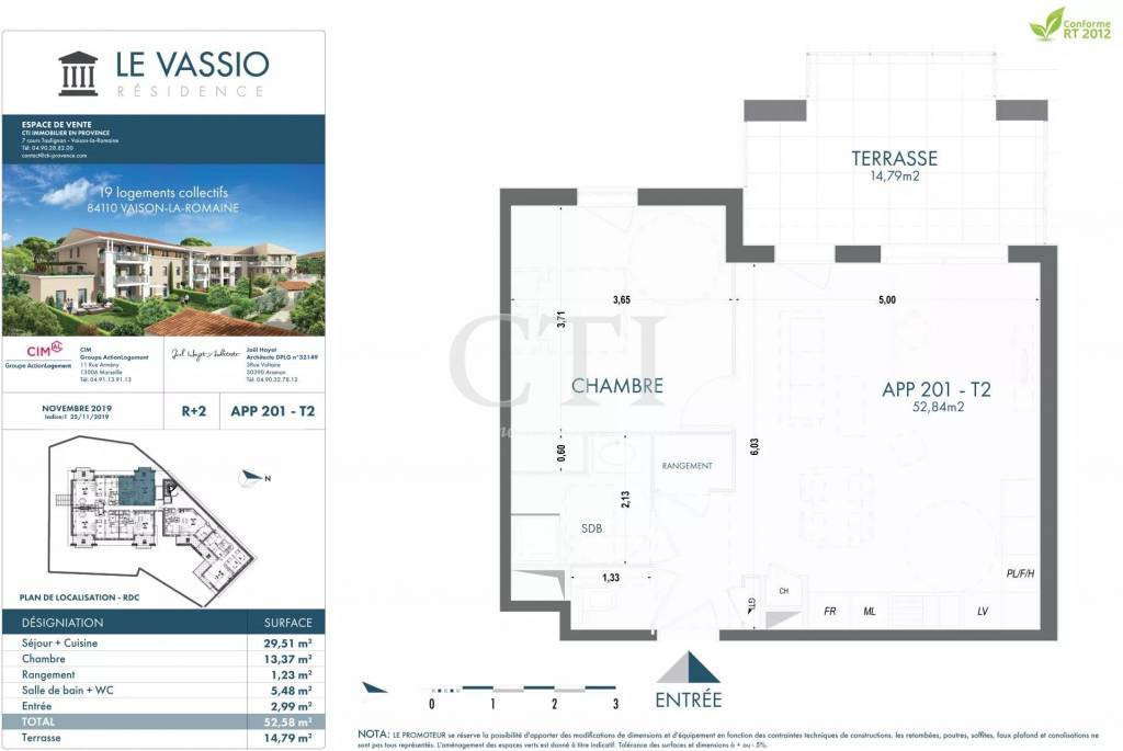 STANDING RESIDENCE THE VASSIO WITH ELEVATOR, TERRACE AND / OR PRIVATE GARDEN IN VAISON LA ROMAINE