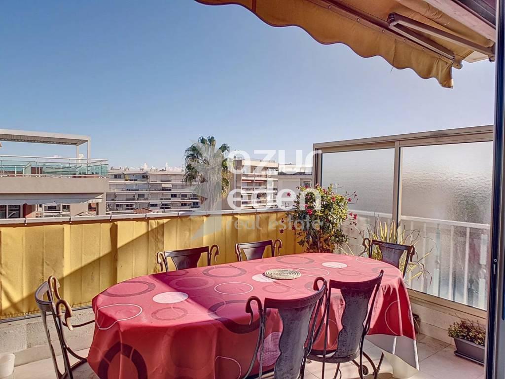 Cannes - Palm Beach - 3 pièces toit terrasse traversant