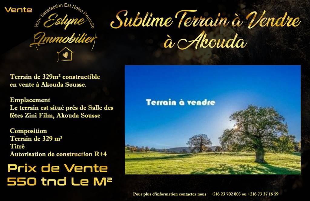 Sale Building land Akouda