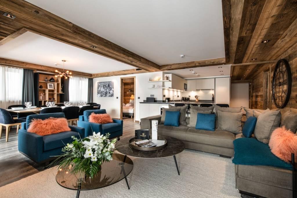 Appartement dans une résidence avec piscine à Courchevel Moriond