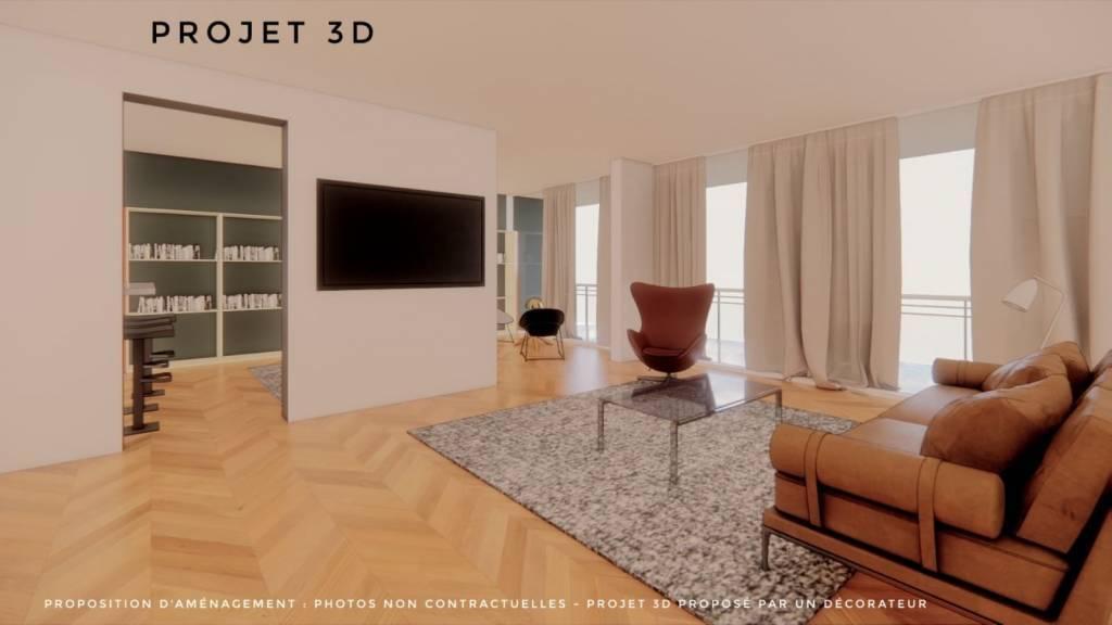 75016 PARIS  - 3 Chambres - 119 m2 + Balcon de 20 M2