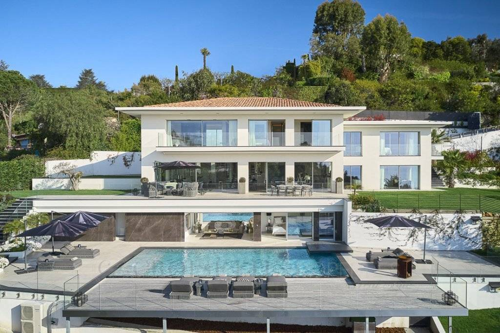SUPER CANNES - MAGNIFICIENT COMPORARY VILLA - SEA VIEW