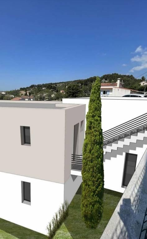 Plan de Cuques  Terrain  460 m2  belle vue dominante au calme