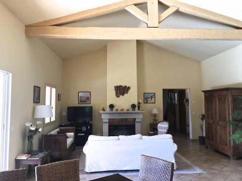Living-room Fireplace Tile High ceiling