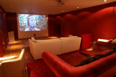 Home cinema Wooden floor