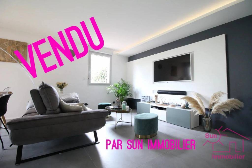 APPARTEMENT DE TYPE 3 63 m²  EN REZ-DE-CHAUSSEE ENTIEREMENT RENOVEE