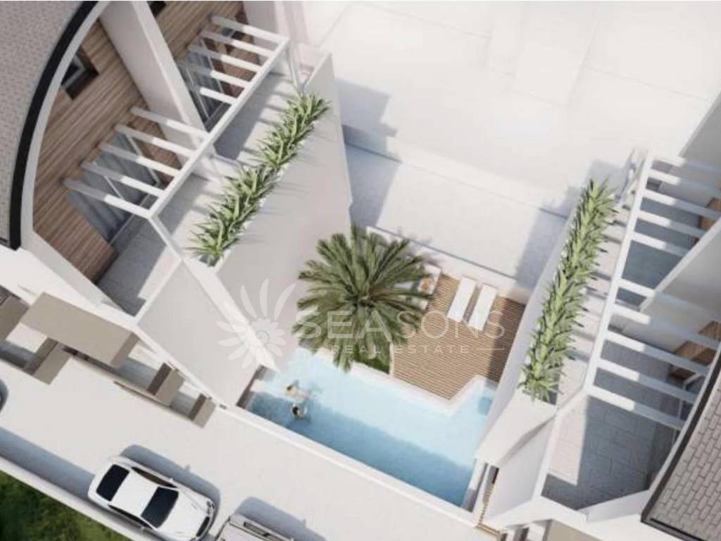 esolo Piazza Aurora new 2 bedroom apartment with swimming pool