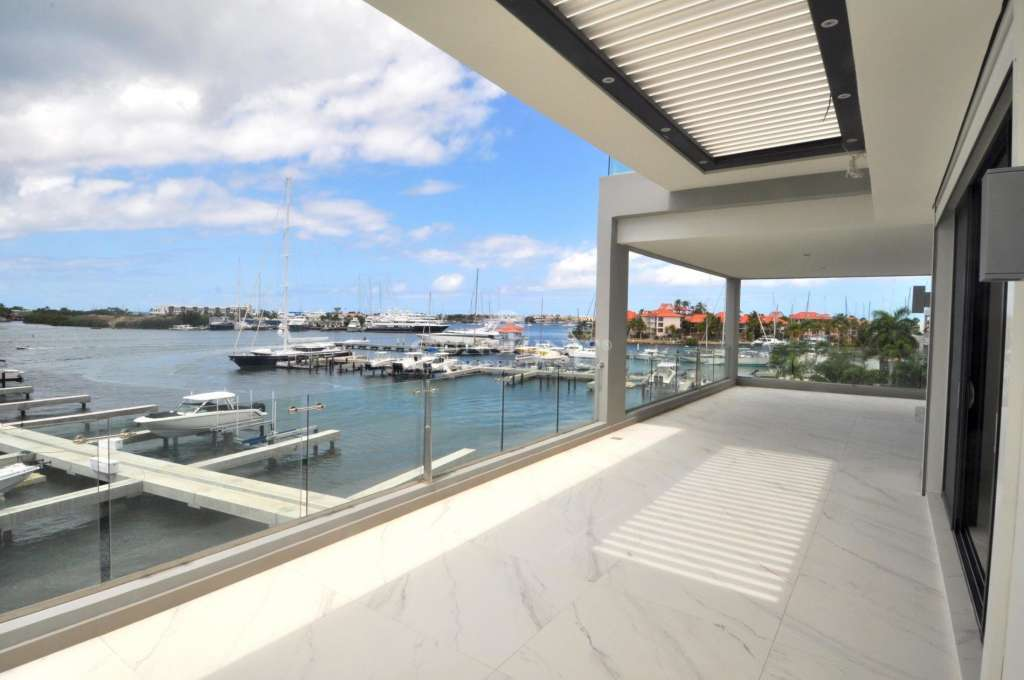Yacht Sphere Panoramic Marina view that extend to the Caribbean sea.