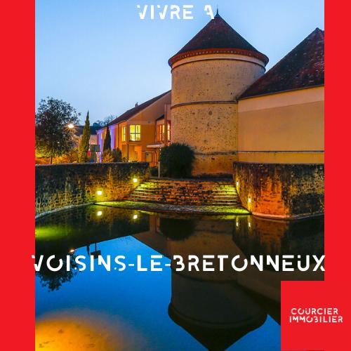 Château de Voisins-Le-Bretonneux éclairé de nuit
