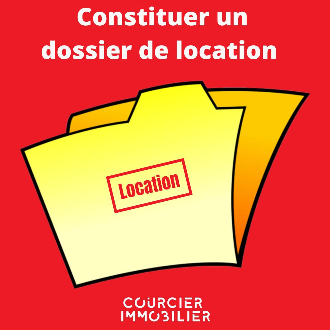 dossier de  location sur fond rouge