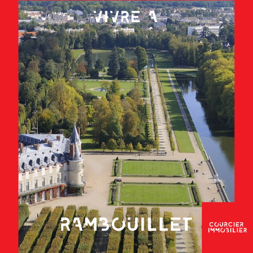 Château de Rambouillet vue du ciel
