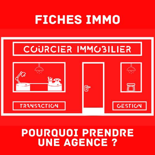 Agence Courcier Immobilier en dessin