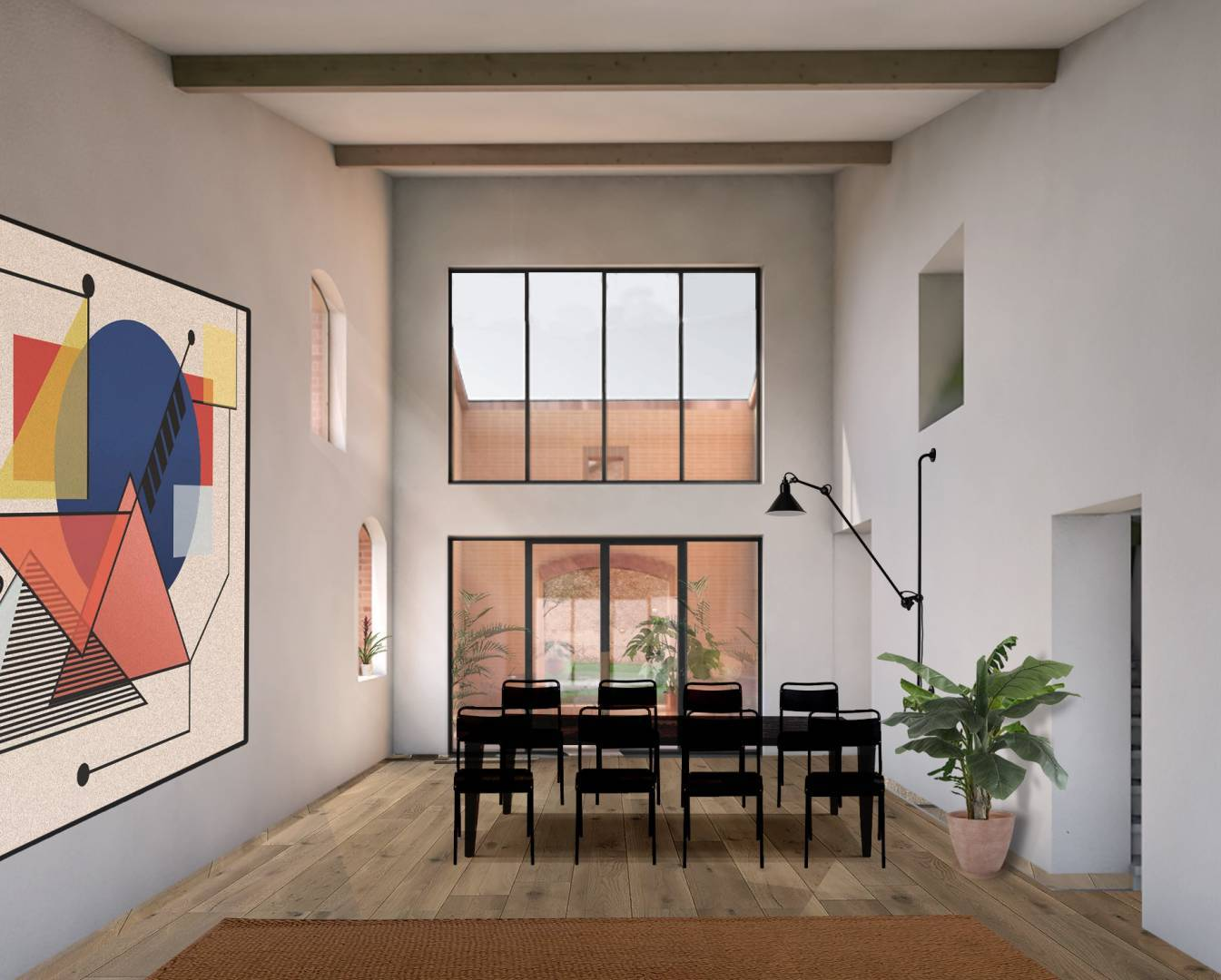 Dining room High ceiling