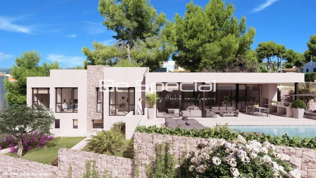Modern villa close to the beach in Calpe.