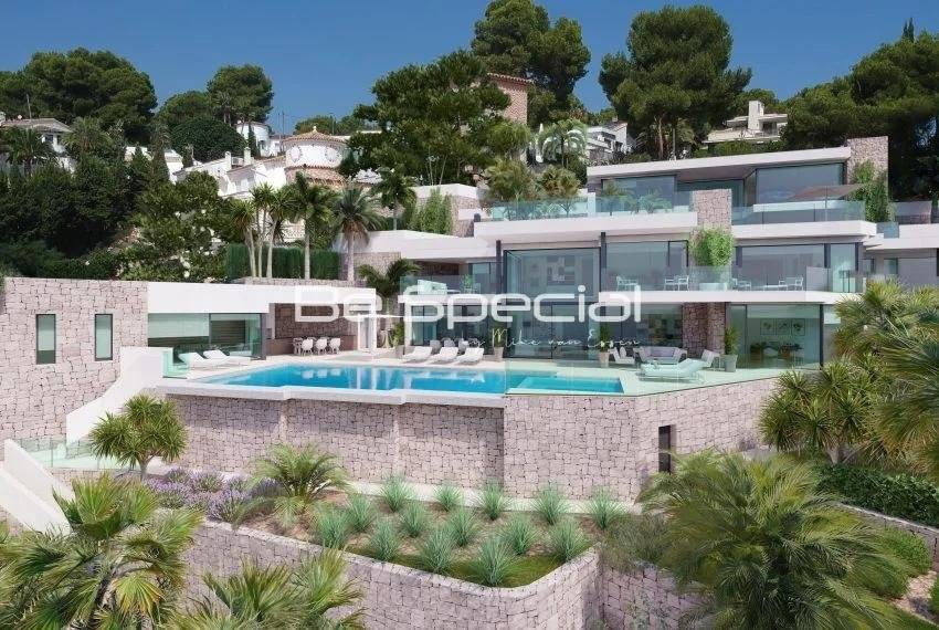 Nouveau projet de villa de première ligne à Moraira avec accès privé direct à la plage !