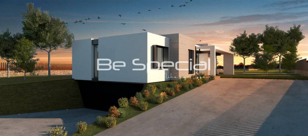 One Level villa which we easy can fit on your flat plot.