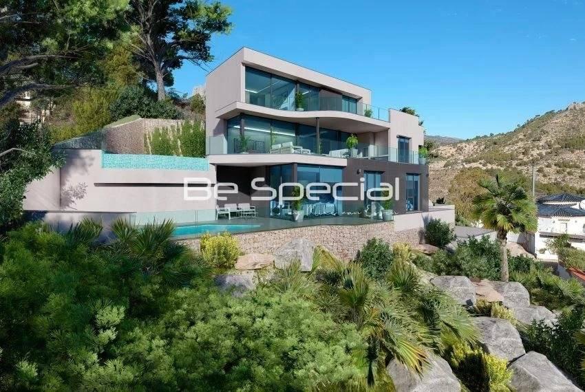 Luxury villa with panoramic seaviews i