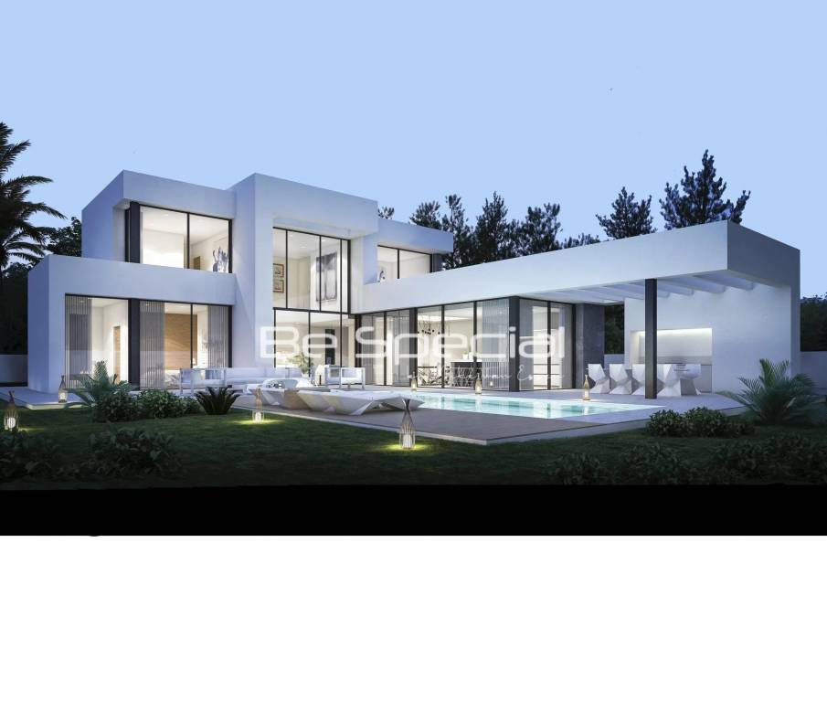 Building in progress for this nice villa in La Cala