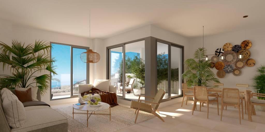 Nouvelle construction / bel appartement avec vue sur la mer à Benalmádena