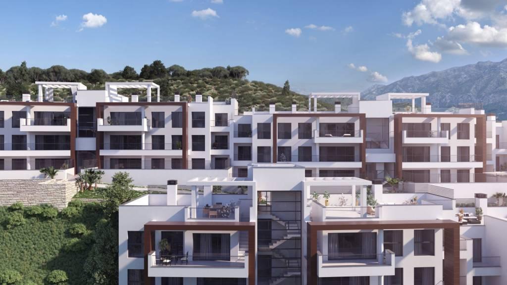 """Magnifique appartement moderne avec vue sur la mer et le Golf a Benahavis """" Marbella """"."""