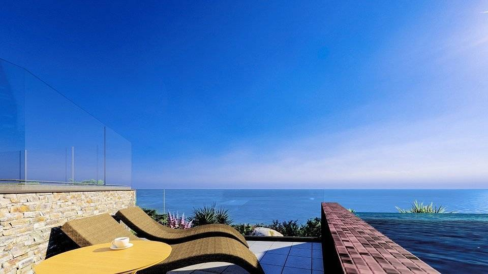 High standing appartment with private garden in the heights of Eze