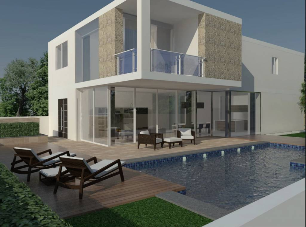 Semi-detached villa in Madliena with pool