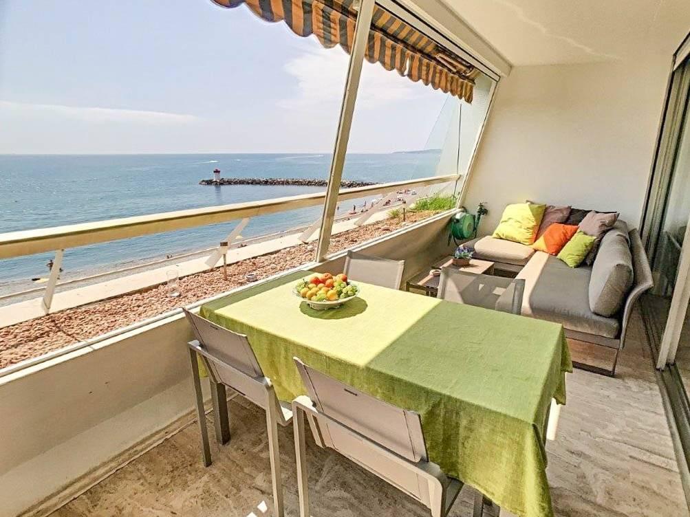 FÖRSÄLJNING Lägenhet 3 Rum Marina Baie Des Anges AMIRAL 14m2 Terrass Havs Utsikt!