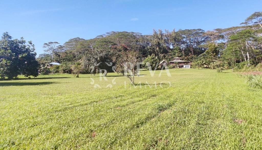 AFAAHITI, VEND GRANDE PROPRIETE DE 9277M² AVEC MAISON ATYPIQUE EN BOIS ET BUNGALOW INDEPENDANT