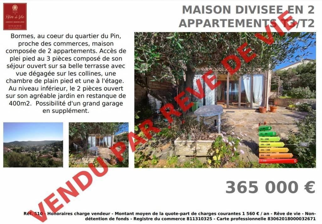 MAISON DIVISEE EN 2 APPARTEMENTS T3/T2