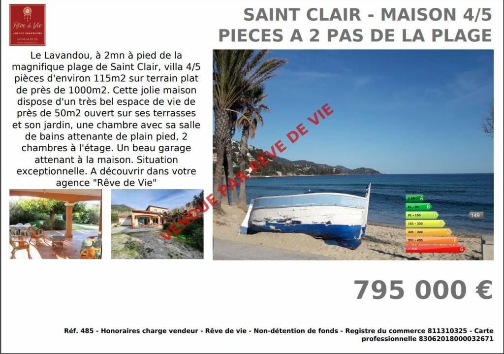 SAINT CLAIR - MAISON 4/5 PIECES A 2 PAS DE LA PLAGE