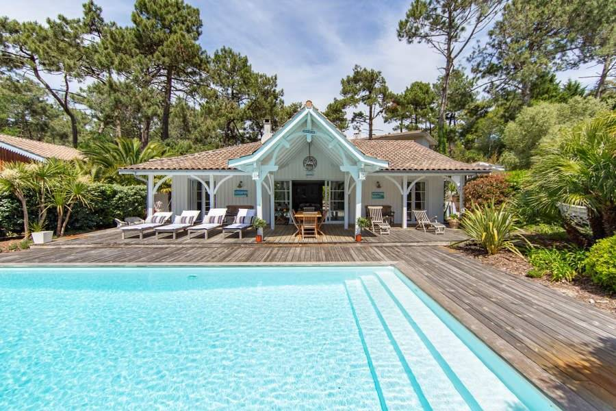 Cap Ferret - Holiday rental - House - 11 Persons - 5 Bedrooms - 2 Bathrooms - 150 m² - Swimming pool